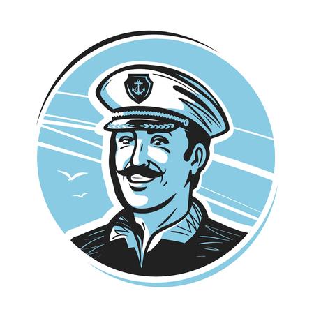 happy people: Portrait of happy captain.