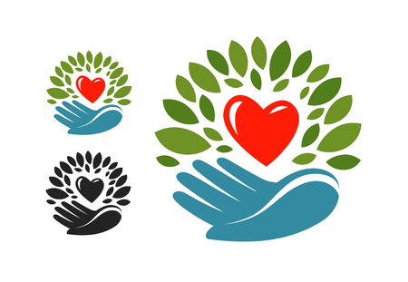 Ecology, environmental protection label Vector illustration Illustration