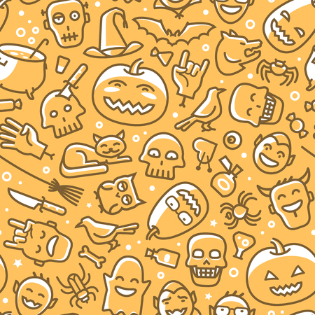 Halloween, seamless background. Holiday concept. Vector illustration