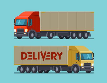Truck delivery illustration.