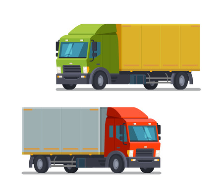 Truck, lorry icon or symbol. Delivery, logistics concept. Vector illustration Illustration