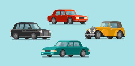 Car, vehicle set icons. Transport, automobile, auto concept. Vector illustration