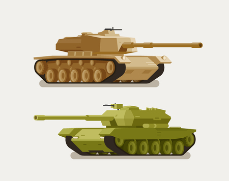 Military tank, army concept. War, weapon, battle symbol or icon. Vector illustration