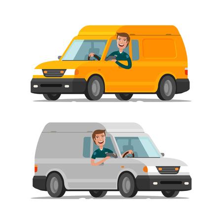 Delivery, transportation, postal service concept. Cartoon vector illustration