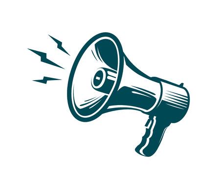 Megaphone, loudspeaker symbol. Advertising, marketing, news concept. Vector illustration