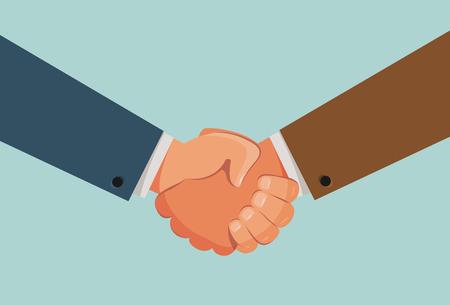 Handshake, shaking hands banner.