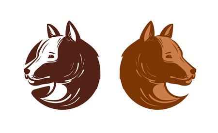 Dog symbol design.