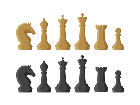 Chess pieces game concept illustration. Illustration