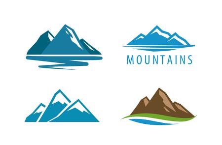 Mountain rock vector illustration.