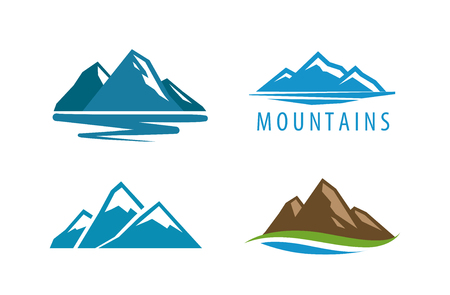 Mountain rock vector illustration.