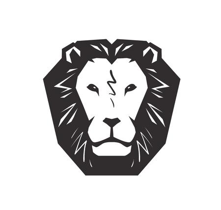 Logo du lion. Animal, symbole de la faune ou une icône. Illustration vectorielle isolée sur fond blanc Banque d'images - 92687075