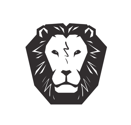 Lion logo. Animal, wildlife symbol or icon. Vector illustration isolated on white background