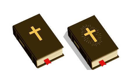 Bible symbol. Worship, church, psalm icon. Vector illustration
