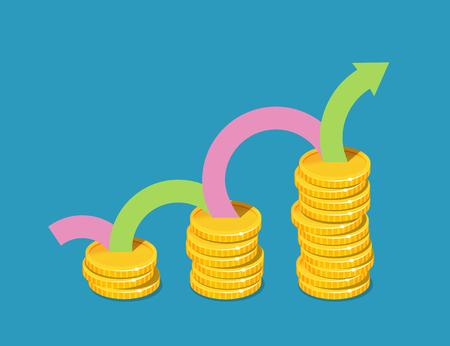 Business income graph concept