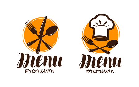 Restaurant menu, logo or label. Cooking, cuisine concept. Vector illustration 矢量图像