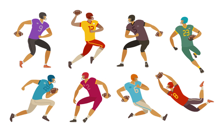 football players. sport concept. cartoon vector illustration