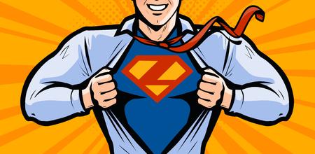 Superhero. Vector illustration in style comic pop art