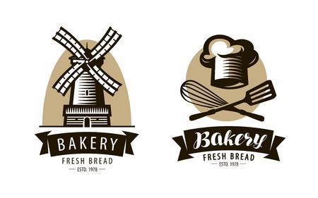 Bakery, bakeshop logo or label. Bakehouse, baking symbol. Vector illustration