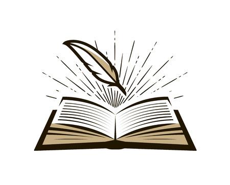 Registro, registro logo o etiqueta. Diario, icono de nota. Ilustración vectorial Logos