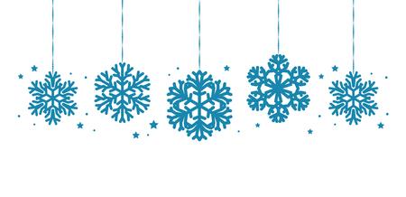 Christmas decorations or decorative snowflakes hanging. Reklamní fotografie