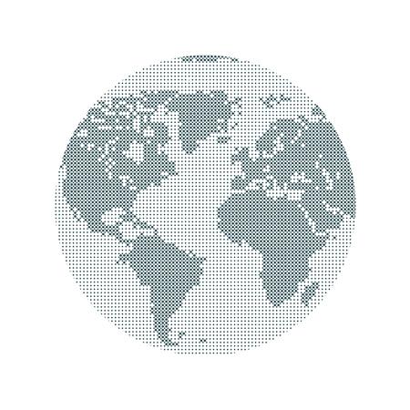 World, internet, modern digital technology. Travel, business concept. Ilustrace