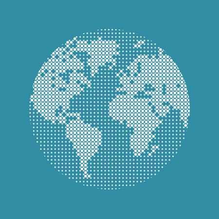 Modern technology, network, world map. Digital internet, web, virtual reality Reklamní fotografie