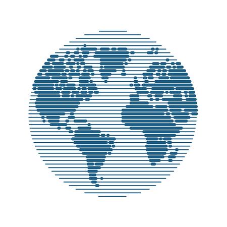 World map. Travel, business, modern technologies concept.