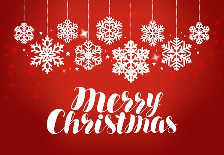 Merry Christmas, greeting card. Holiday, celebration banner. Reklamní fotografie