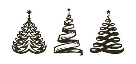 Christmas tree, abstract symbol. Reklamní fotografie