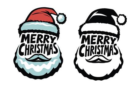 Merry Christmas, handwritten lettering. Santa Claus concept. Ilustrace