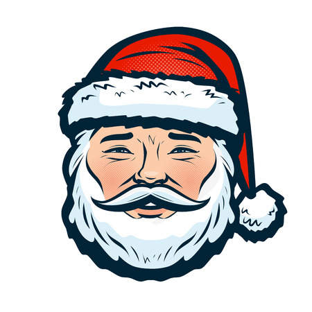 Portrait of happy Santa Claus. Christmas or new year symbol.