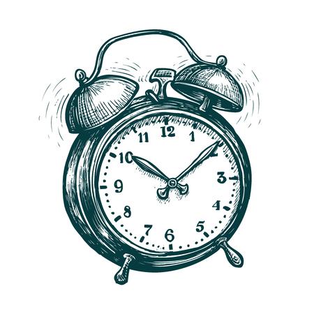 Alarm clock is ringing, wake-up call. Reminder, deadline concept.