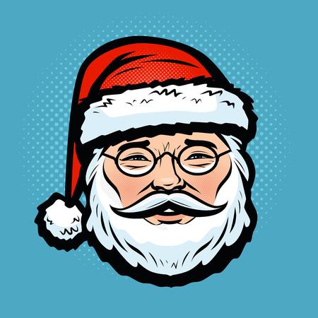 Santa Claus. Christmas, holiday symbol.