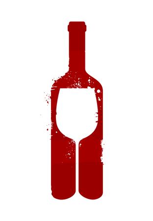 Wine bottle and glass. Alcoholic drink. Reklamní fotografie