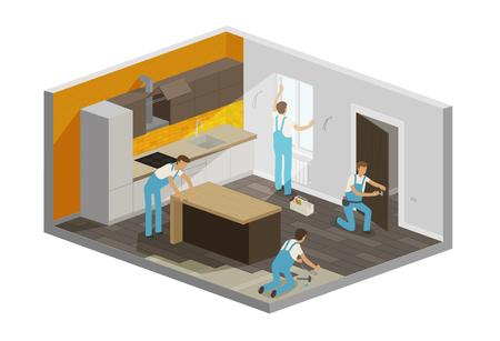 Home repair, renovation interior.