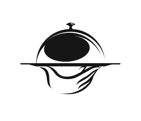 Menu, restaurant, food service logo. Ilustrace
