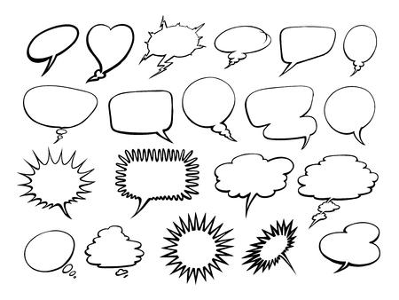 Set of comic speech bubbles. Ilustrace