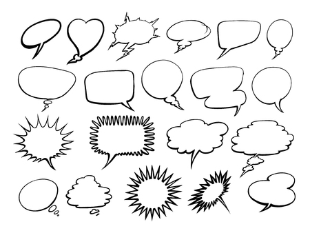 Set of comic speech bubbles. Illustration