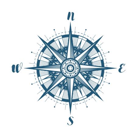 Compass wind rose, sketch.