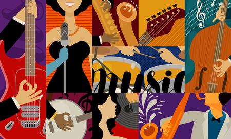 music concept, background. musical festival concert performance vector