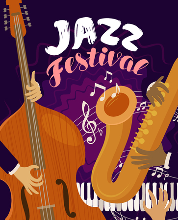 jazz festival. musical festival, live music, blues concept vector illustration