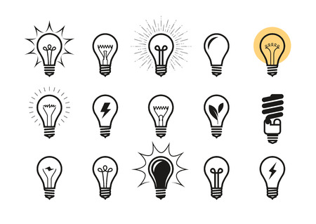 Light bulb icon set.