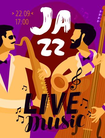 Jazz placard. music festival, live music concept.