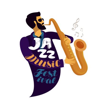 Jazz festival. Live music, jive, concert concept. Ilustrace