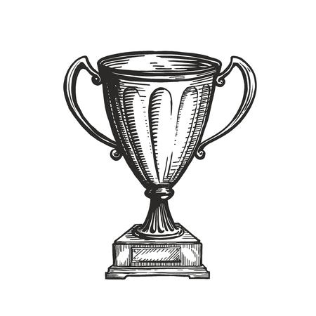 Winner trophy award. Ilustrace