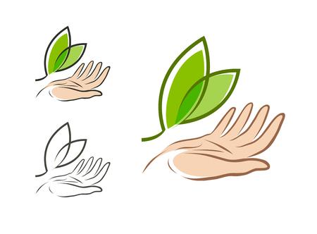 Ecology, environment logo.