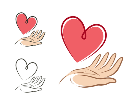 Heart in hand Ilustrace