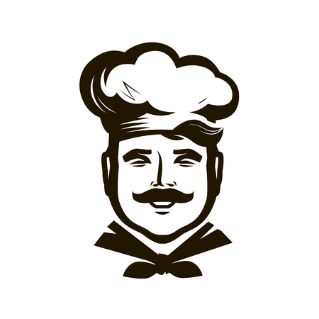 Chef logo. Cuisine, cooking icon or symbol.