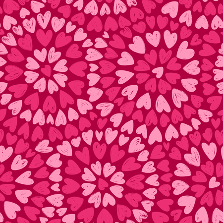 Seamless background. Romance decorative pattern vector illustration Ilustração