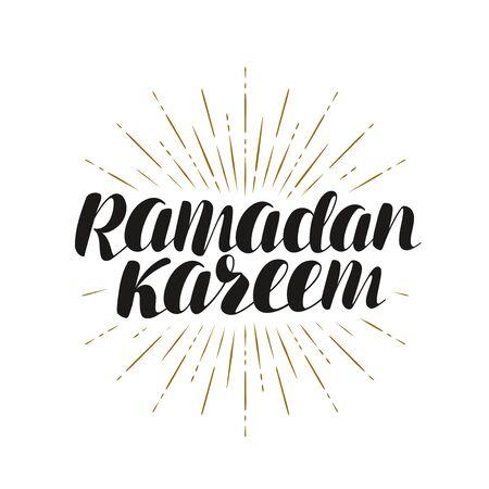 Ramadan Kareem, greeting card. Vektoros illusztráció
